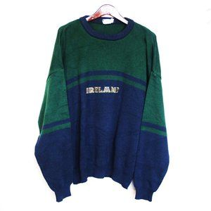 vtg Ireland knit oversized grandpa jumper sweater